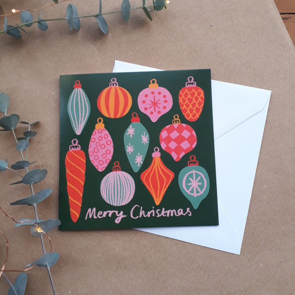 Image of Baubles Christmas Card
