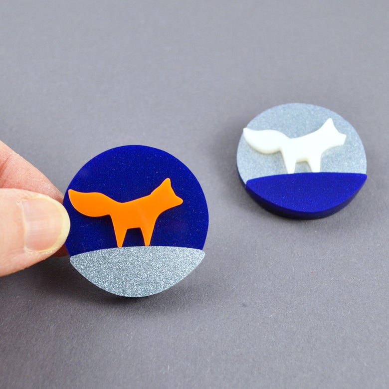 Image of Little Fox Brooch