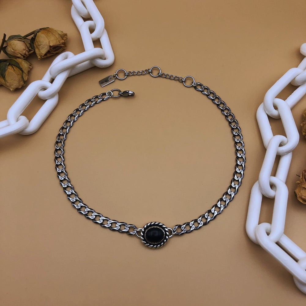 Image of onyx & chain
