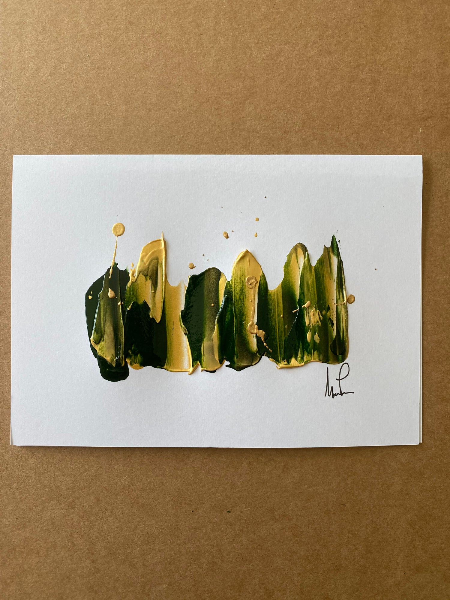 Image of  5 pack Hand Painted 5x7 Notecards (Color options)