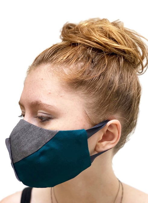 Image of fase mask in teal/gray