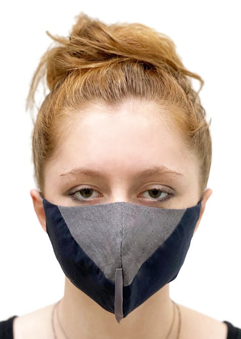 Image of face mask gray/navy