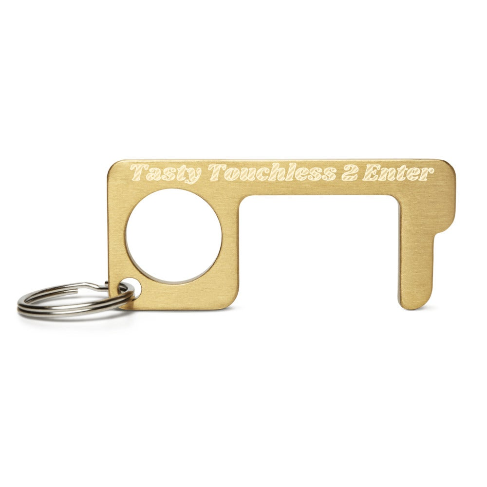 Image of Tasty Touchless 2 Enter Engraved Brass Touch Tool