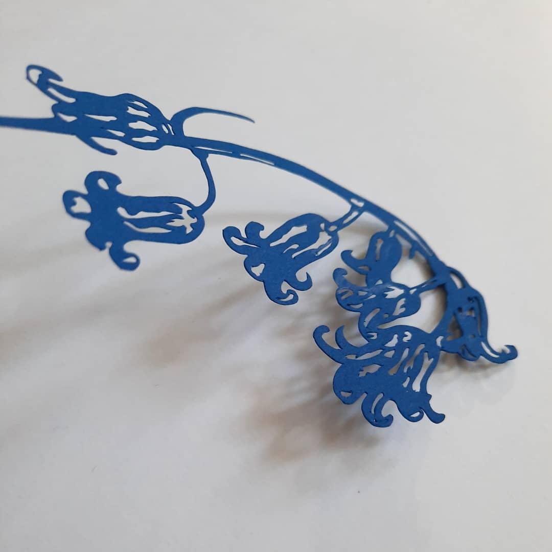 Image of Framed Hand Cut Bluebell