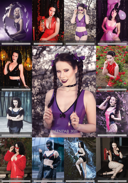 Image of A4/A3+ size 2021 Calendar - Latex version