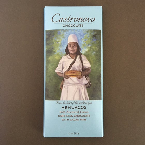 Image of Castronovo Chocolate 66% Arhuacos Dark Milk Chocolate with Nibs