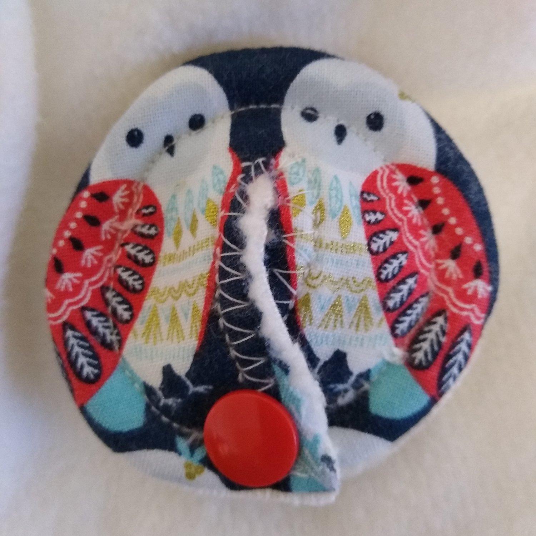 Image of Snowy Owl Christmas/Winter Tubie Pad