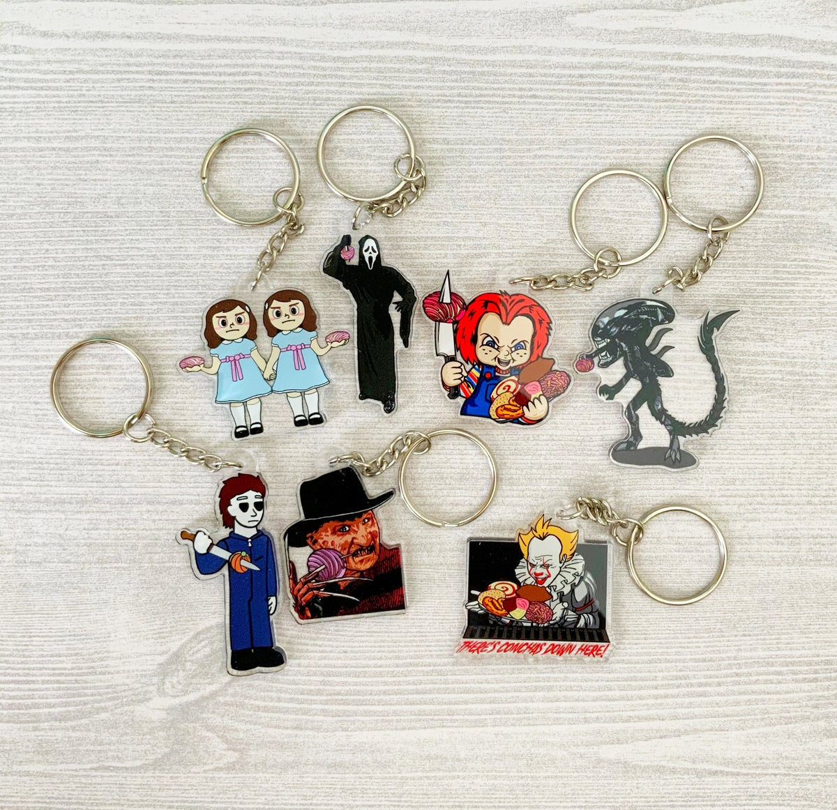 Spooky Character Acrylic Keychains
