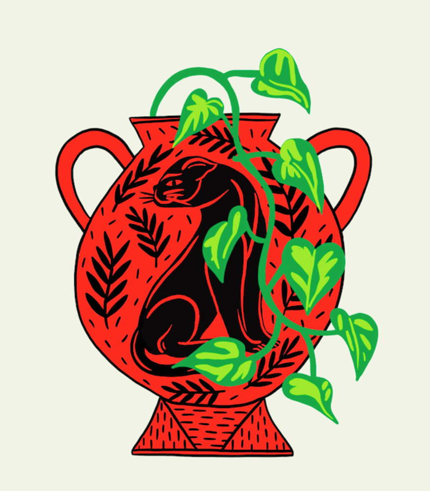 Image of Red Vase