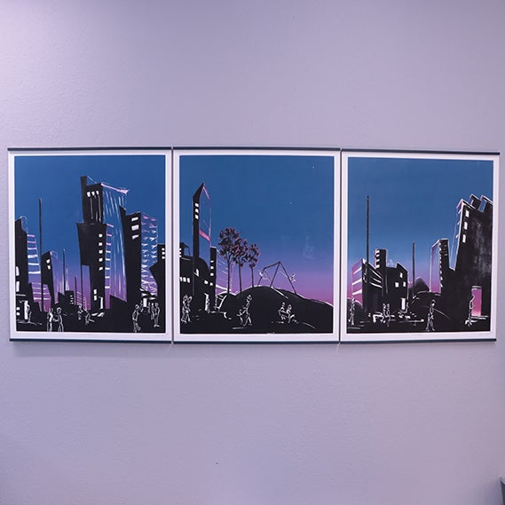 Image of Summer Evenings triptych by Shawn Lotze