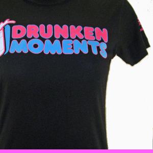Image of BLACK DRUNKEN MOMENTS LOGO T WOMEN'S