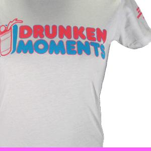 Image of WHITE DRUNKEN MOMENTS LOGO T WOMEN'S