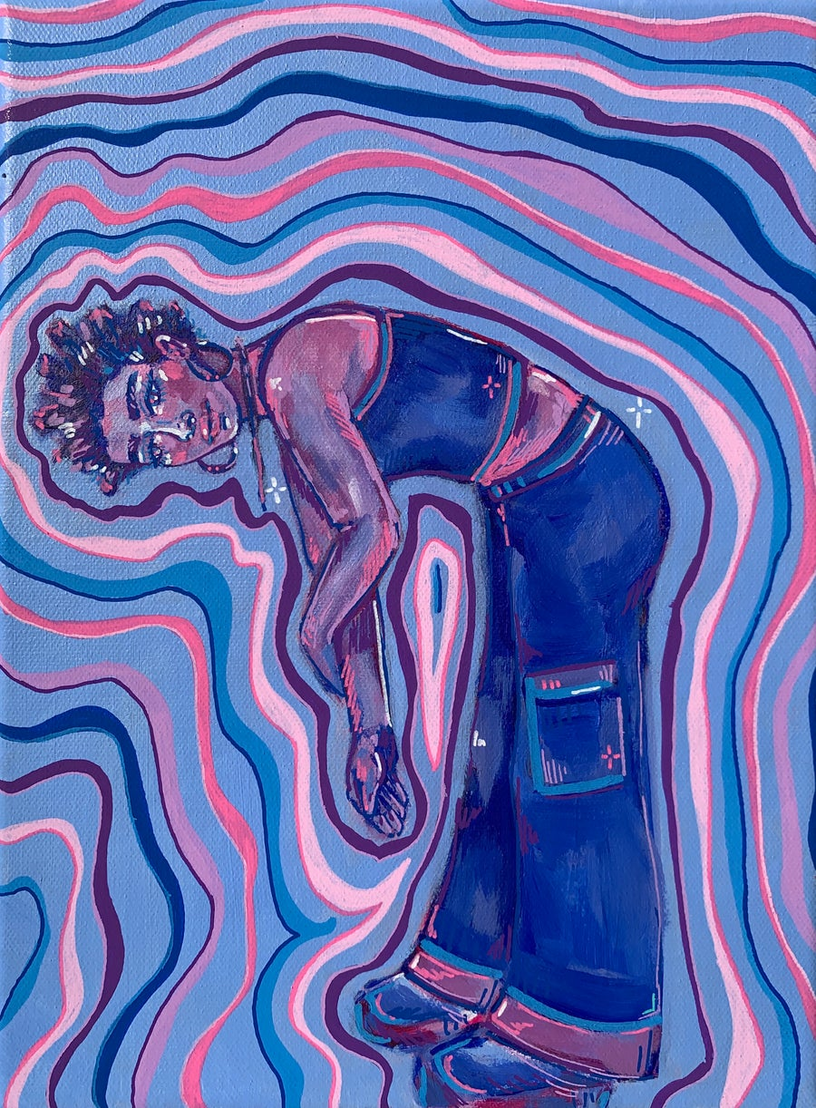 Image of abstract figure painting