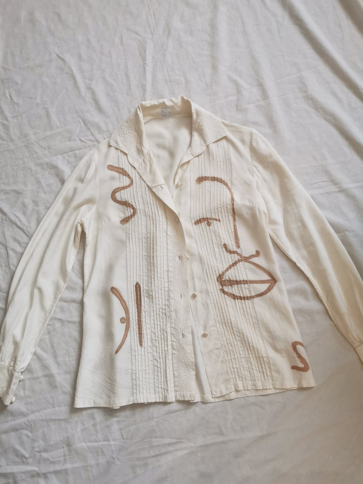 Image of bold line blouse