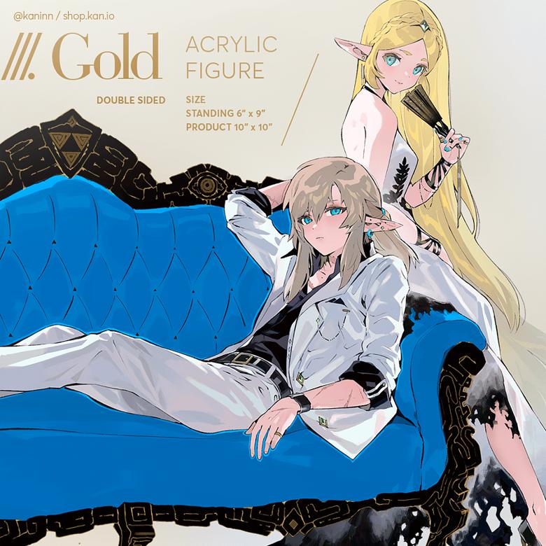 Image of Gold: Zelink Acrylic Standee (Large)/ zelda