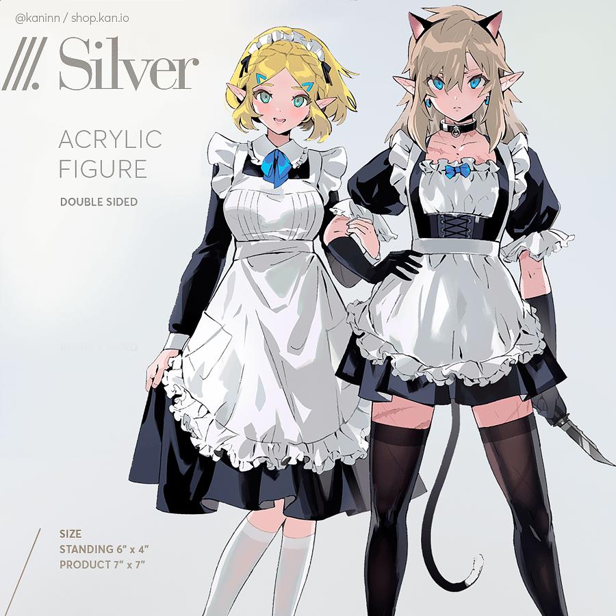 Image of Silver: Zelink Acrylic Standee (Medium) / zelda