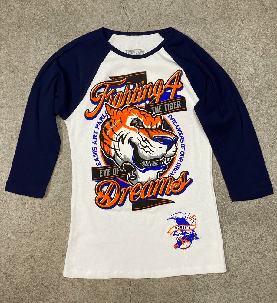 "Image of Women's ""Eye of the Tiger"" Raglan Tee"