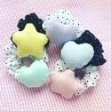 Blue Heart + Black Scrunchie