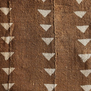 Image of Rust Mudcloth Pillowcase