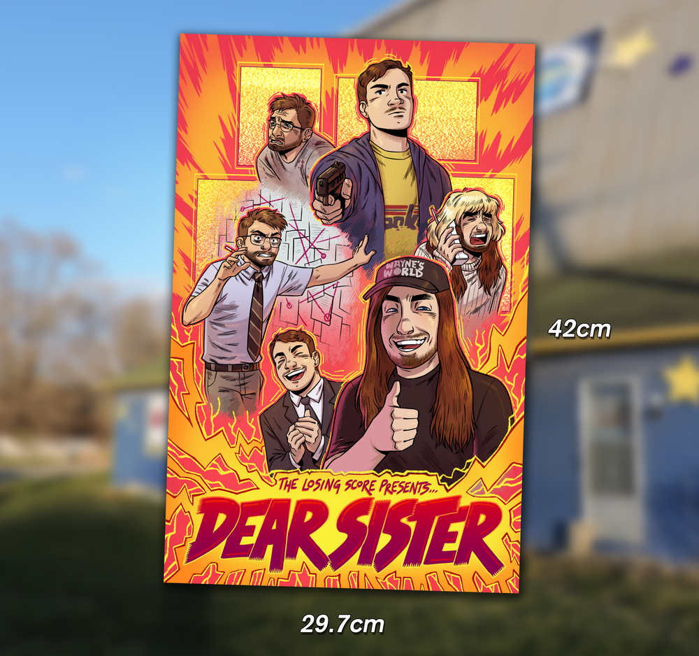 Image of 'Dear Sister' A3 Print - Hand Numbered out of 25 (Includes Poster Tube)