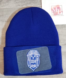 Image of Zeta Denim Patch Beanie