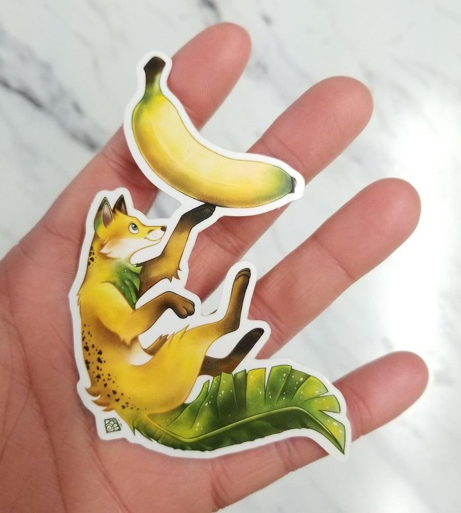 Image of Banana Fox waterproof outdoor vinyl sticker decal