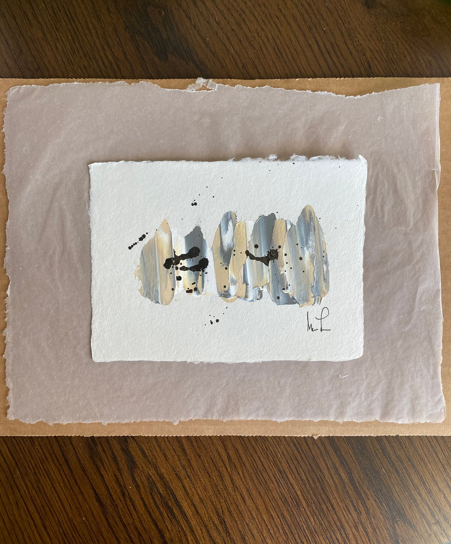 Image of ML  Art Collection - Handmade Paper on Vellum Paper (1d)