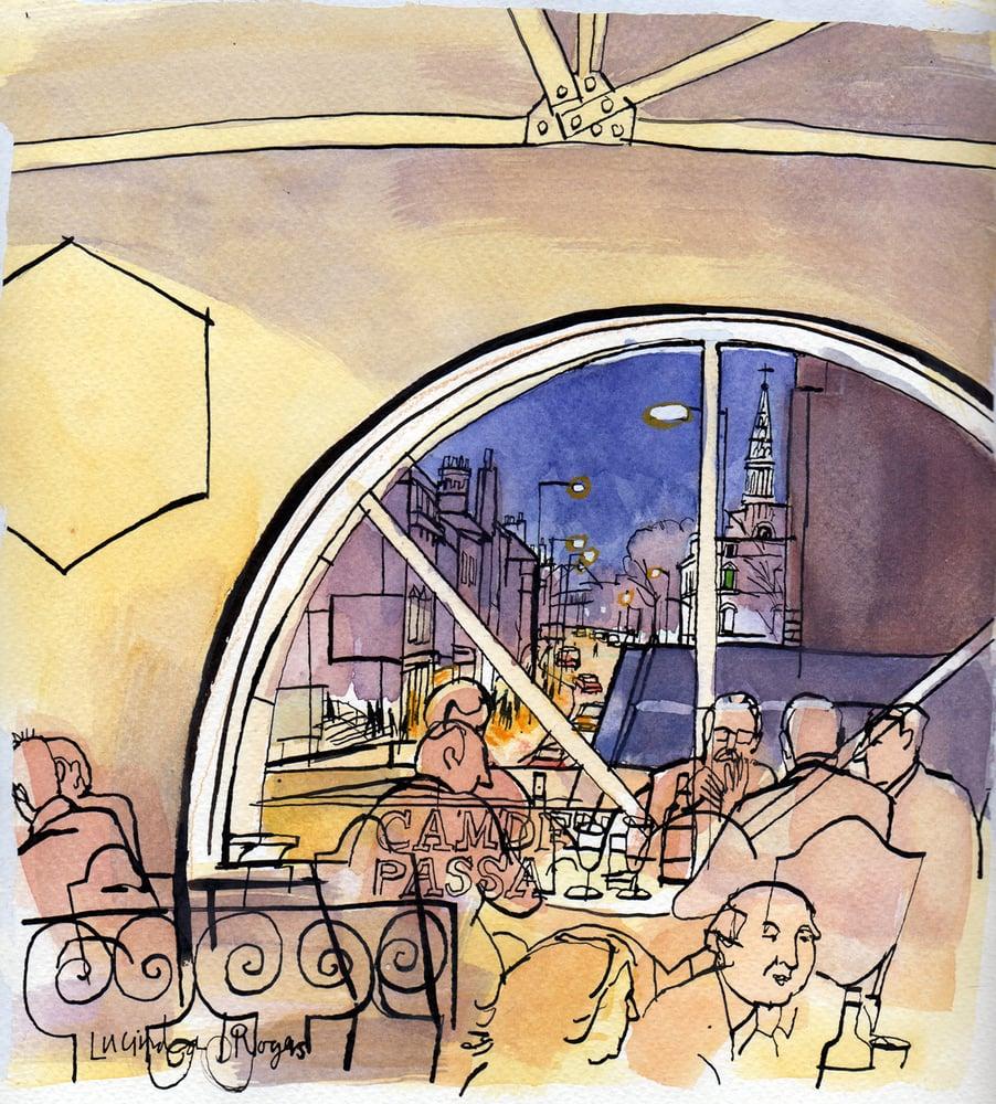 Image of Lola's restaurant, Camden Passage (framed)