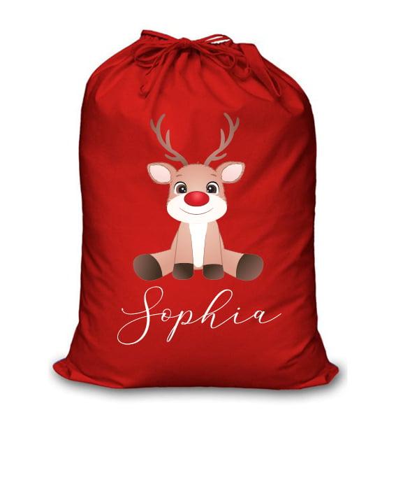 Image of Personalised Christmas Santa Sack - Baby Reindeer