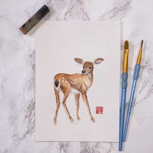 Image of Original Watercolour - Nara Deer