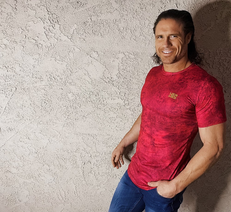 Image of LOCA Deep Red Round Neck Unisex T-Shirt