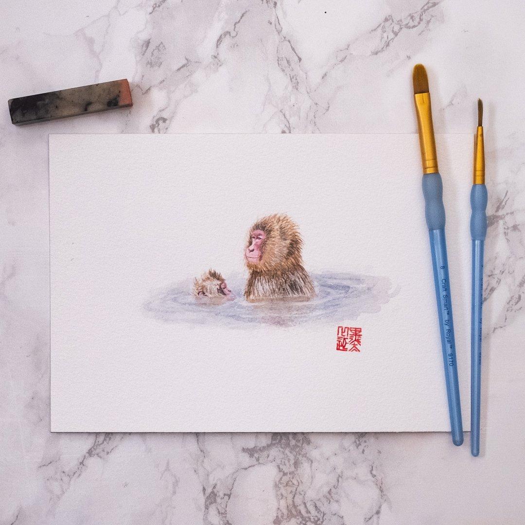Image of Onsen monkeys