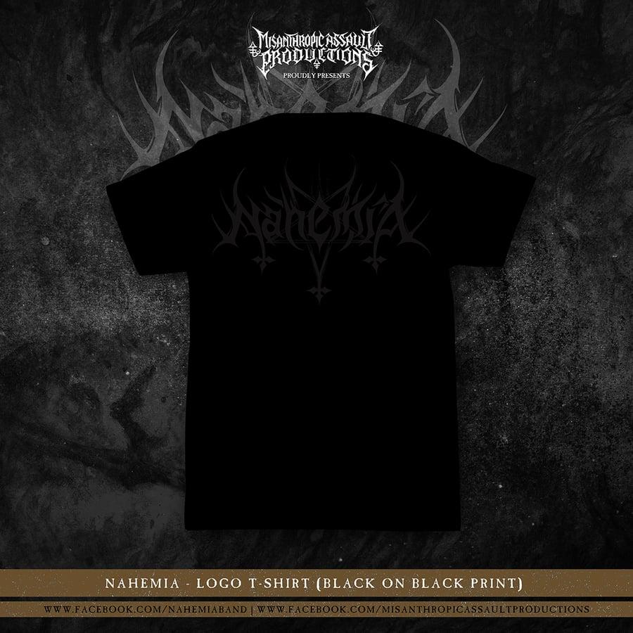 Image of NahemiA (Black on Black) Logo T-shirt