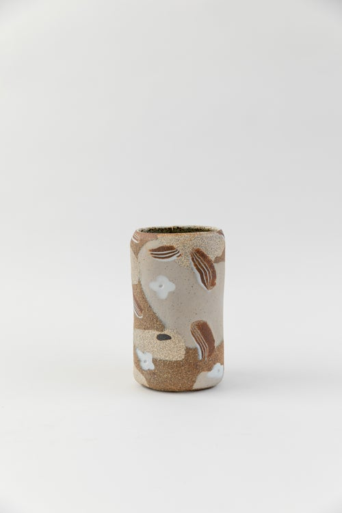 Image of Tall Oval Inlay Vase - Desert Spring