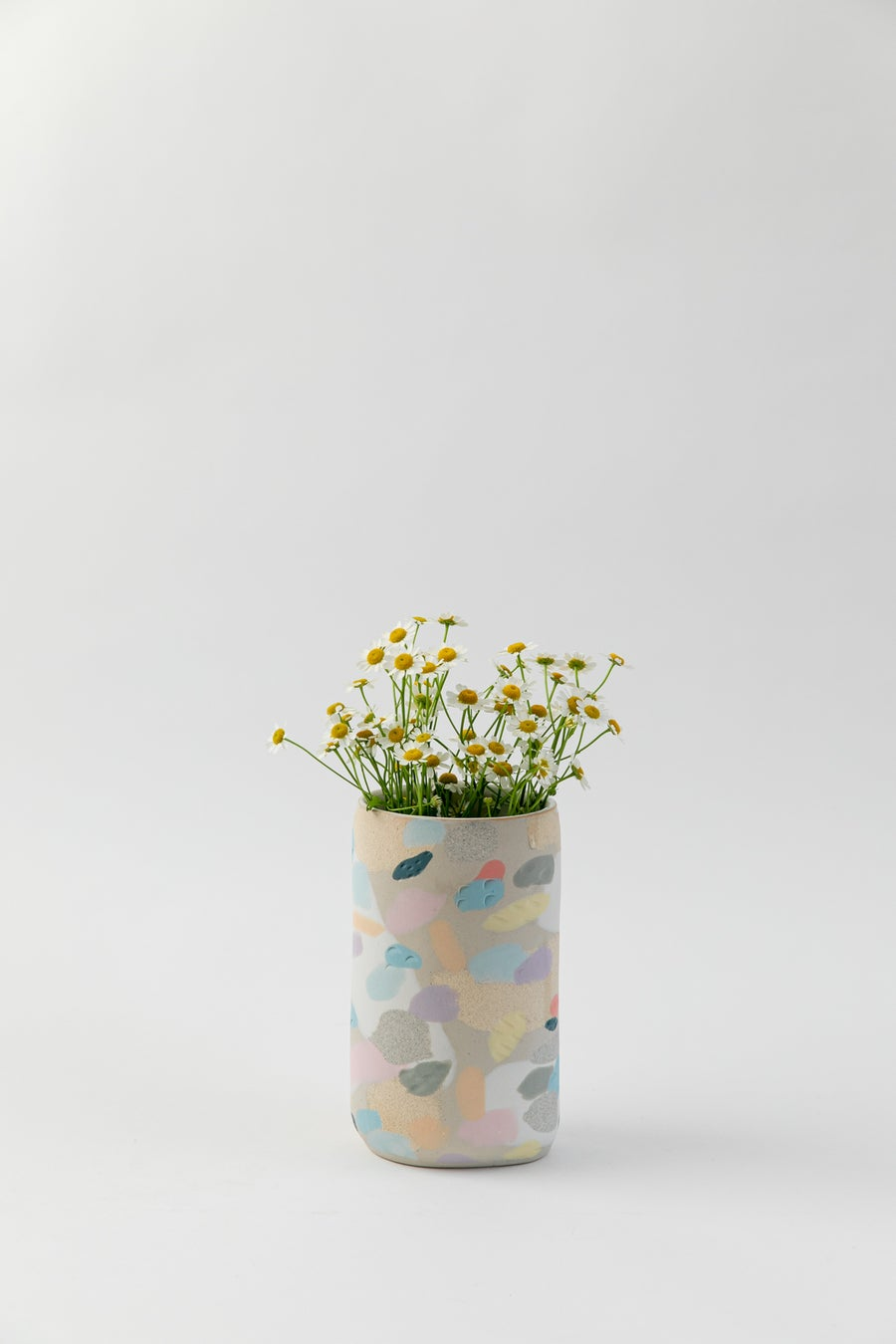 Image of Tall Oval Inlay Vase - Rainbow Camo