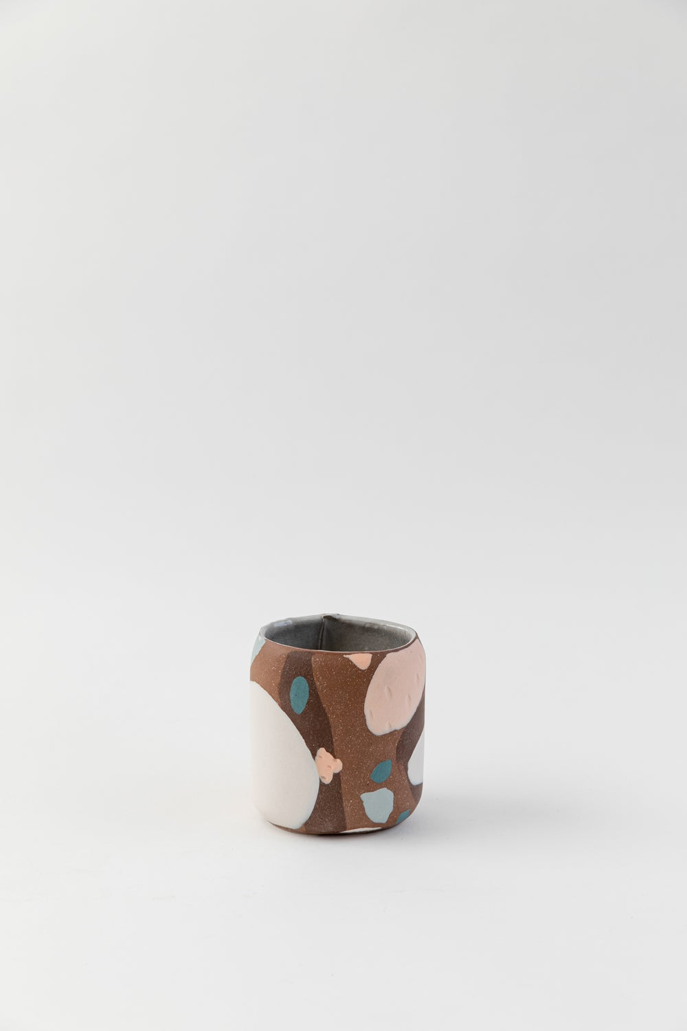 Image of Short Oval Inlay Vase - Red Mesa