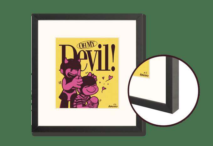 """Image of """"Oh My Devil!"""" Framed"""