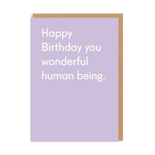 Image of Wonderful Human Being Birthday Card