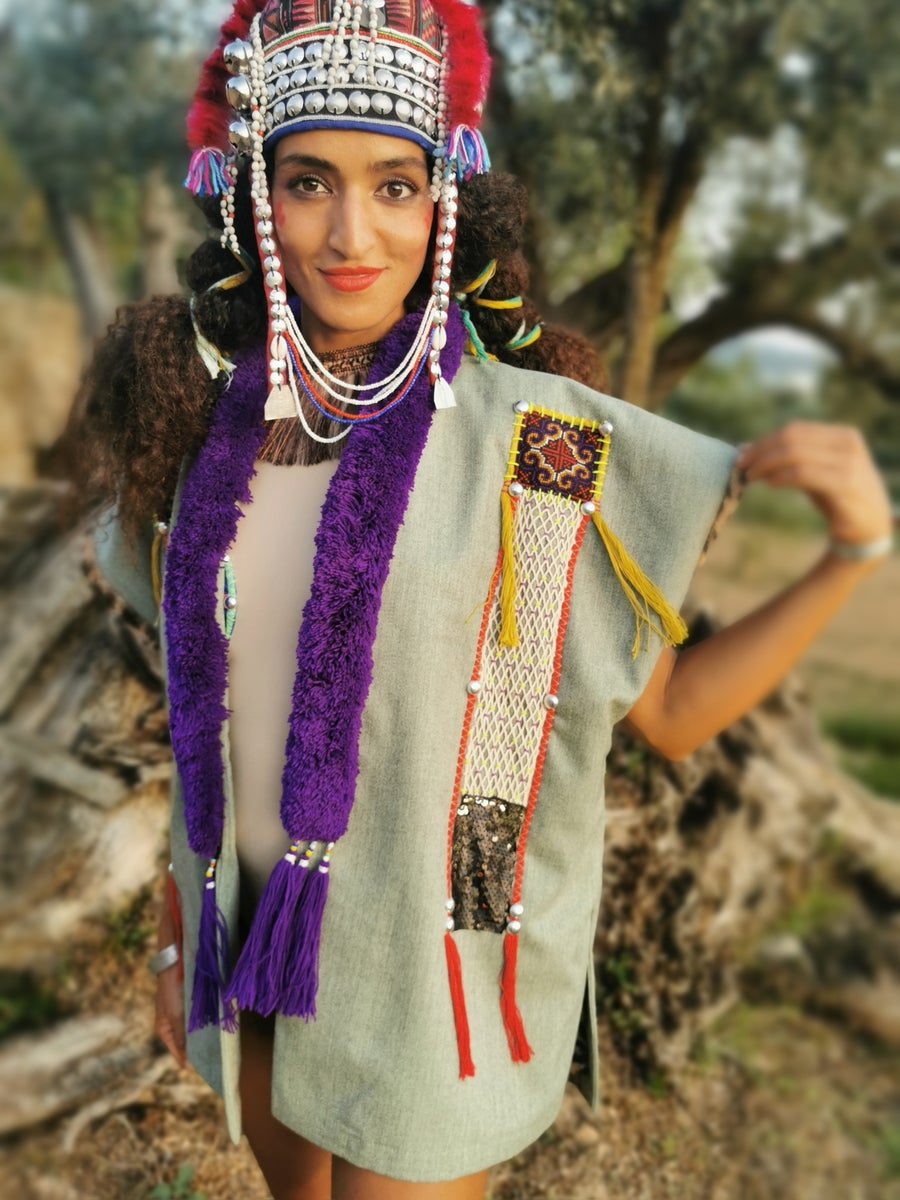 Image of Purple Mien Poncho