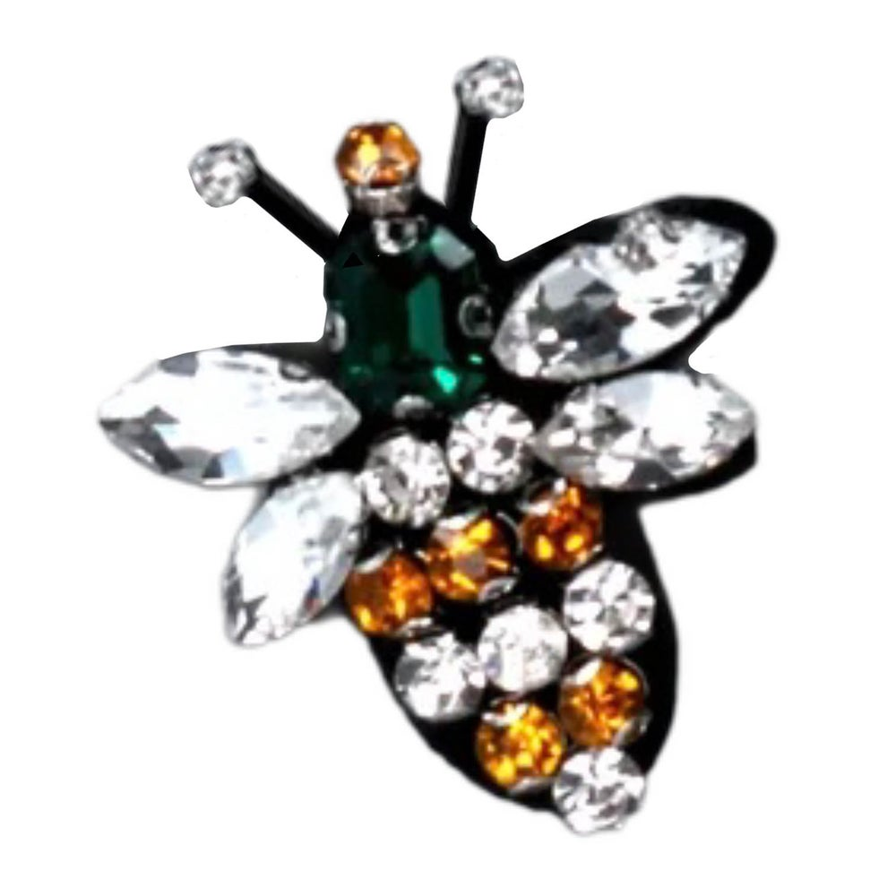 Image of Gisela Graham Diamante Bee Brooch