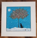 Image 2 of 'Black Beauty' Handpainted Framed Tile