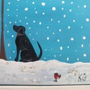 Image 4 of 'Black Beauty' Handpainted Framed Tile