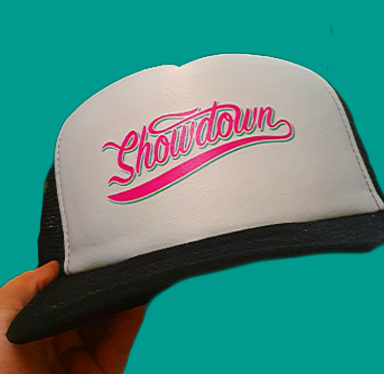 Showdown - Vintage Snapback Trucker (Black/White)