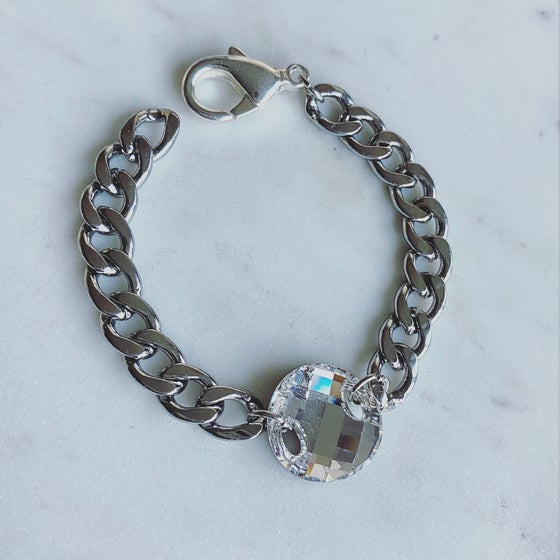 Image of Crystal Disc Chain Bracelet