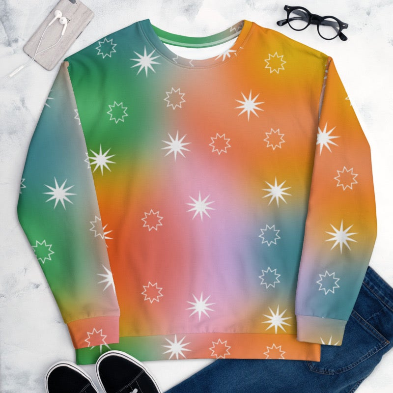 Image of Fairy Dust Print Sweater