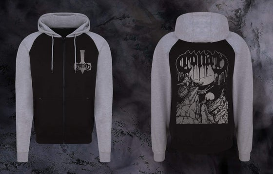 Image of SENTINEL HOODIE - GREY AND BLACK