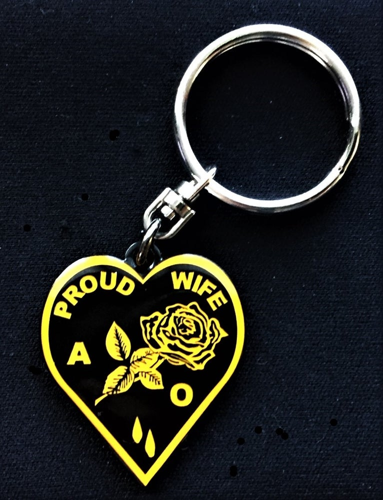 Image of Agent Orange Proud Wife Medallion Key Ring
