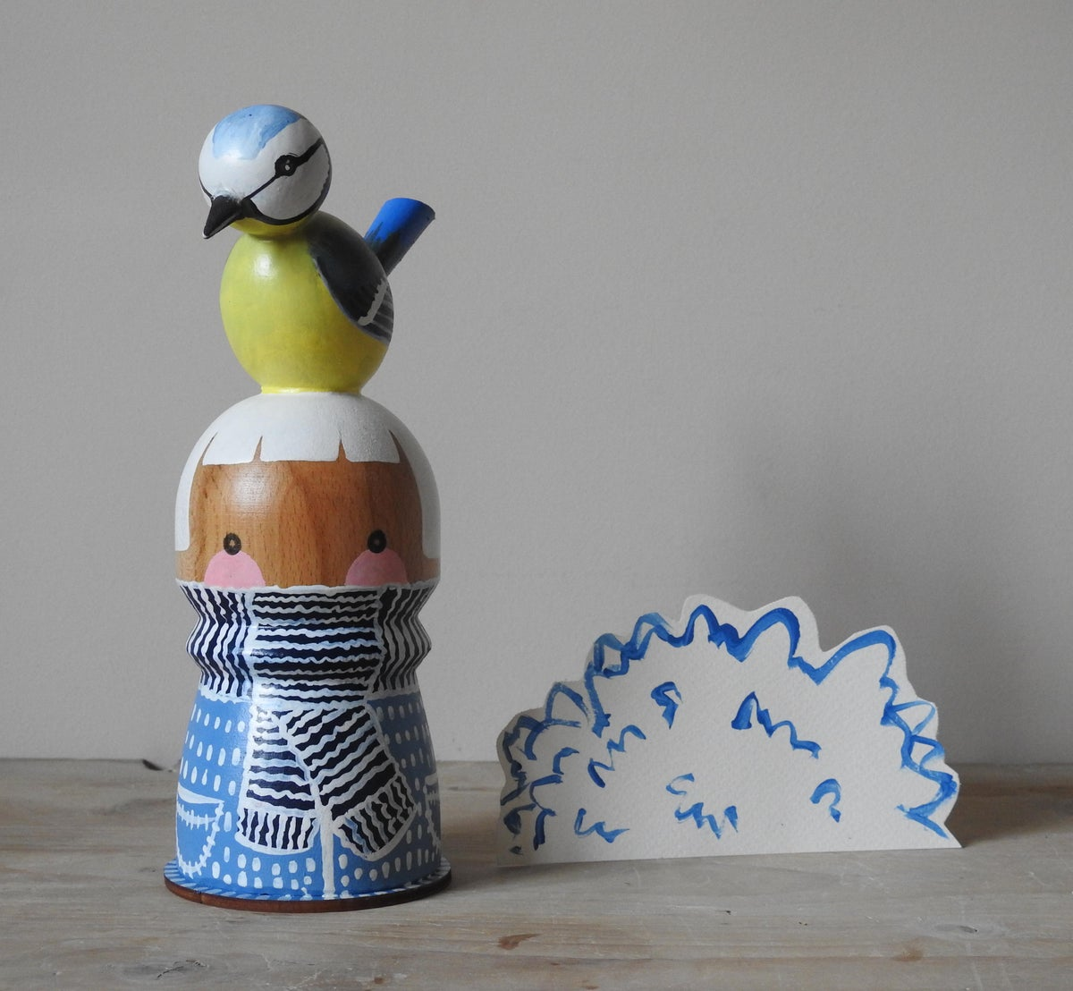 Image of Found Wood Girl - Blue Tit Girl
