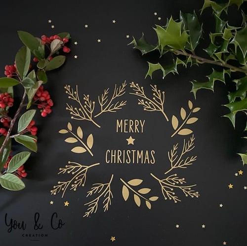 "Image of Sticker ""Merry Christmas"""