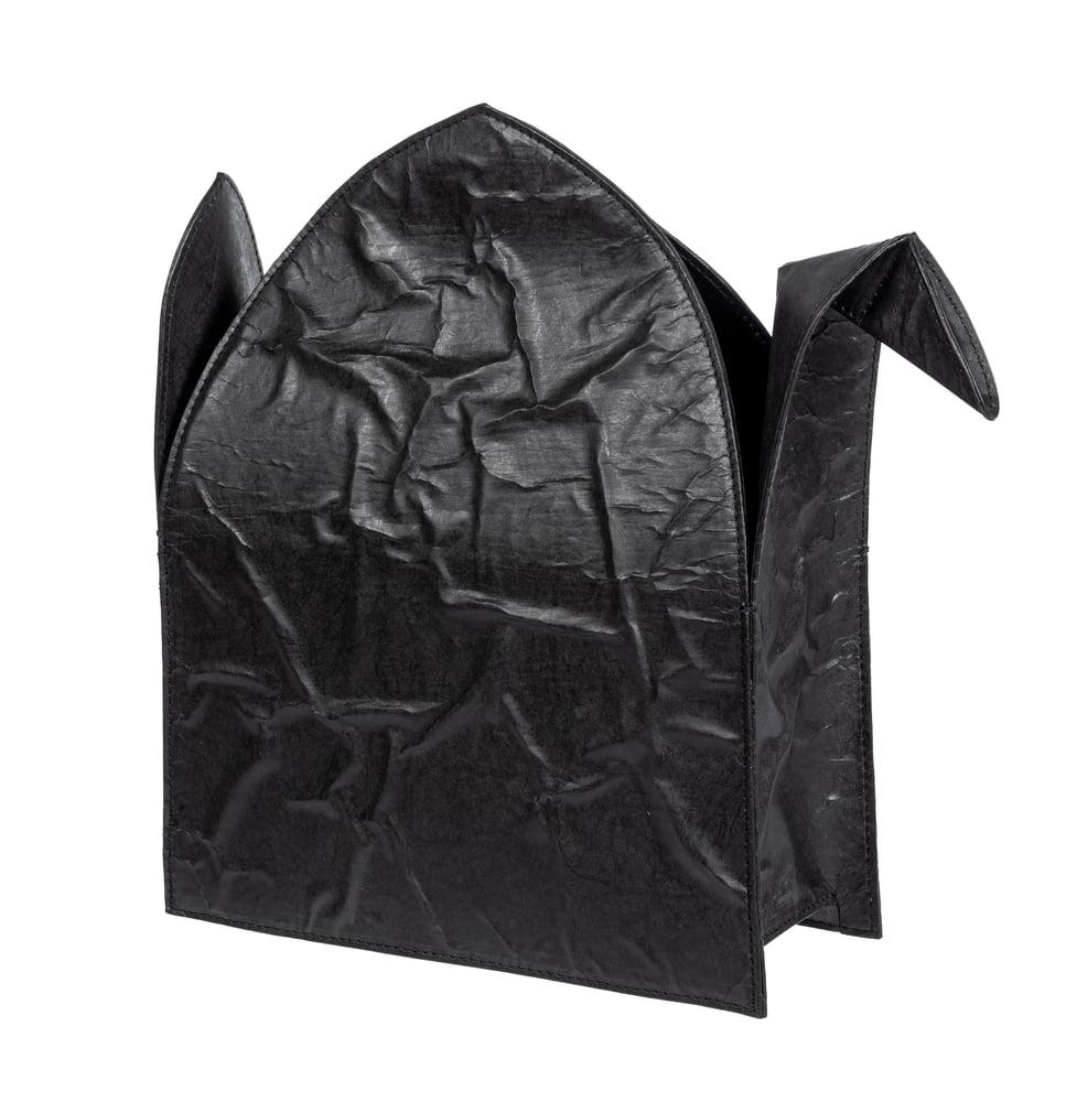 Image of Black Tyvek Paper Origami Crane Purse